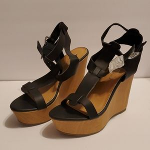Strappy Open Toe Gladiator Emporer Cage Wedges